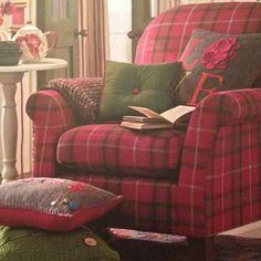 Tartan comfort, with a pot of tea and a good book