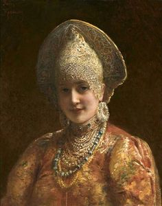 Russian beauty in paintings by Konstantin Makovsky