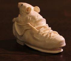 Okimono Netsuke Mammut Bein Beinschnitzerei Figur Wooly Mammoth | eBay