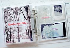 Love the large photo of the trees! 25 Days Of Christmas, Christmas Albums, Christmas Scrapbook, Christmas Ideas, December Daily, Hello December, Daily Journal, Junk Journal, Journal Ideas