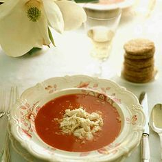 A cold soup is always a refreshing first course on a hot day; this one -- a refreshing cross between gazpacho and a Bloody Mary -- doesn't require any time on the stove at all.