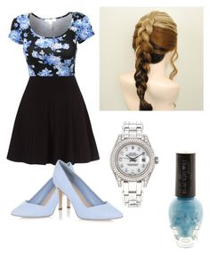 """Pale blue"" by aliciafashion5 ❤ liked on Polyvore featuring Rolex"