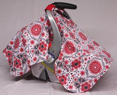 Check out this item in my Etsy shop https://www.etsy.com/listing/219560752/floral-baby-car-seat-canopy-floral-red