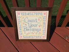 A personal favorite from my Etsy shop https://www.etsy.com/listing/385724176/vintage-count-your-blessings-cross