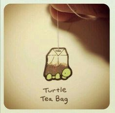 It's a tea turtle Cute Turtle Drawings, Animal Drawings, Cute Drawings, Sheldon The Tiny Dinosaur, Kawaii Turtle, Smileys, Animal Puns, Cute Turtles, Turtle Love