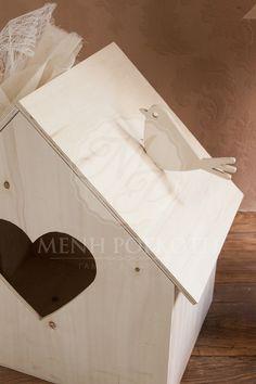 Σετ βάπτισης για κορίτσι ρομαντικό με ξύλινο σπιτάκι με πουλάκι