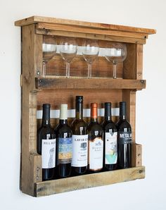 Pallet Wine Rack Pallet Furniture Rustic by byDadandDaughter