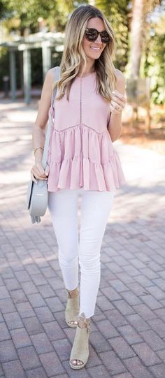fashionable outfit idea top + bag + skinnies