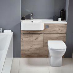 Buy Verona Linea Combination Unit with Basin and Worktop Wide LH - Oak today. Verona Part No: Free UK delivery in approx 3 working days. Bathroom Design Small, Bathroom Layout, Bathroom Interior Design, Bathroom Designs, Best Bathroom Vanities, Bathroom Photos, Bathroom Design Inspiration, Bad Inspiration, Master Bedroom Bathroom