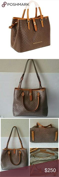 "Dooney & Bourke Claremont Woven Embossed Perry Sat Dooney & Bourke Claremont Woven Embossed Perry Satchel. Preowned. In excellent  condition.color taupe Measures approximately 12-3/4""W x 10""H x 6-3/4""D with a 5-1/2"" handle drop and a 10"" to 12"" strap drop; weighs approximately 2 lbs, 4 oz Body/trim 100% leather; lining 100% cotton Dooney & Bourke Bags Shoulder Bags"