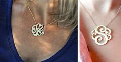 Monogram is all the rage right now and these initial pendants will not disappoint. Finished in a matted gold hue with beautifully scrolled initials this piece will be your staple necklace. Monogram Jewelry, Monogram Necklace, Monogram Initials, Personalized Jewelry, Hair Ribbons, Hand Stamped Necklace, Initial Pendant, Gold Jewelry, Jewellery