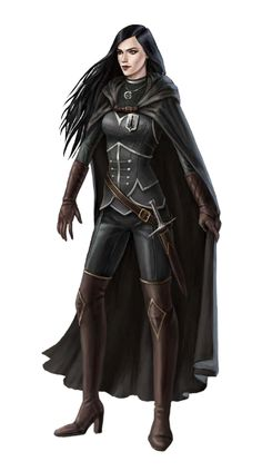 Female Human Cleric of Pharasma - Pathfinder PFRPG DND D&D d20 fantasy