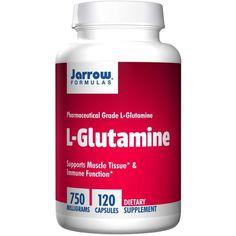 Jarrow Formulas, L-Glutamine, 750mg, 120 Capsules, Pharmaceutical Grade