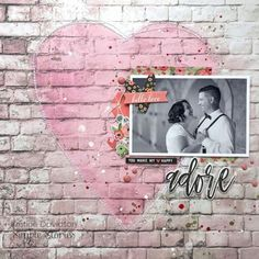 Layout featuring the Romance Collection by design team member Kristine Davidson