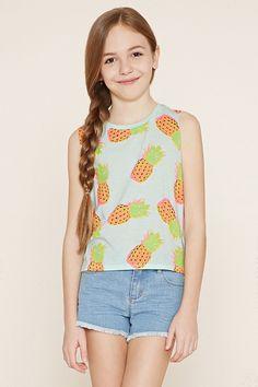 Girls Pineapple Tank (Kids)