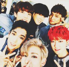 Got7's Yugyeom and Bambam, Bts's Jungkook, and Seventeen's DK, The8, and Mingyu