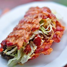 bacon shell taco.