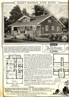 Sears Vallonia from the 1916 catalog.  The original layout