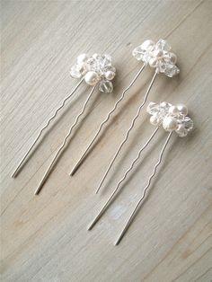 tocado perla novia