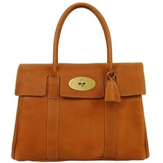 MULBERRY Bayswater Natural Leather ❤ liked on Polyvore