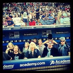 Sweet Home Turner Field! Lynyrd Skynyrd gettin' ready for their post-game concert at the Ted.