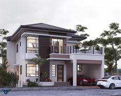 Modern Exterior House Designs, Modern House Floor Plans, Best Modern House Design, Modern House Facades, Latest House Designs, Modern Tiny House, Minimalist House Design, House Plans, Modern Houses