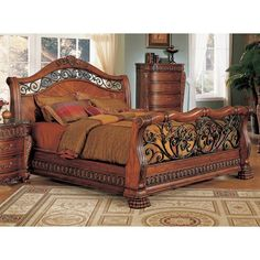 ? ? Nicholas King Bed with Iron Scrollwork ? ? - Discovered at www.dcgstores.com...