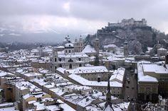 Salzburg City in Winter