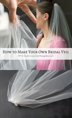 How to make a bridal veil // Learn how to make a simple bridal veil. It's easier than you think!
