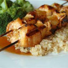 Brochetas de pollo y piña @ allrecipes.com.mx