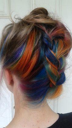 Hidden Rainbow Hair by @myefate  @joicointensity @joicocanada   #imye #imyedesigns #photo #winnipeg #hiddenrainbowhair #skittles #followtherainbow #haircolor #joico #joicointensity #rainbow #rainbowrays #winnipegstylist #hairpainting #longhair #braidedstyles #invertedfrenchbraid #rainbowhaircolor #updo #upstyle #style #fashion #beauty