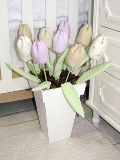 Vaso de chão com tulipas