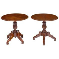 Pair Antique Faux Louis Philippe Side Tables