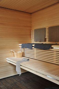 add a room: one+ sauna house Small Tub, Small Pools, Small Bathroom, Bathroom Ideas, Basement Bathroom, Bathroom Storage, Bathrooms, Sauna Steam Room, Sauna Room