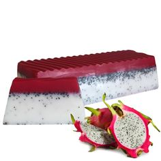 A wonderful soap that has a amazing scent of Dragon Fruit in other words Pitaya filled with poppy seeds to scrub away that dead skin for a smooth and shiny look and feel! Pitaya, Body Soap, Tropical Paradise, Dead Skin, Glycerin, Vegan Soap, Cold Process Soap, Home Made Soap, Fruit