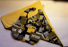 Bib University of Iowa Hawkeyes by GratefulGeek on Etsy