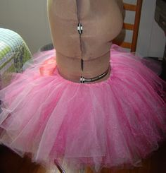 This tutorial is showing how easy it is to make a no-sew adult tutu. I wish I'd have made a pink tutu for my daughter when she was young....