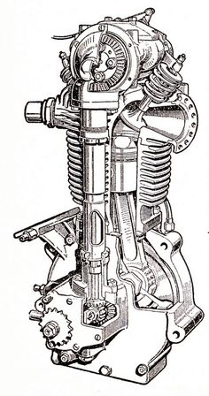 Velocette TT engine 1926 by Lawrence Peregrine-Trousers, via Flickr