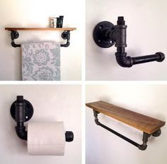 This towel rack and toilet paper holder set by Etsy artist Arc + Timber is made with reclaimed black walnut wood and steel piping, giving your bathroom a few clean lines and a custom feel. Arc + Timber is also up to produce a one-of-a-kind item for your space.