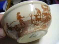 wallace china chuck wagon soup / cereal bowl