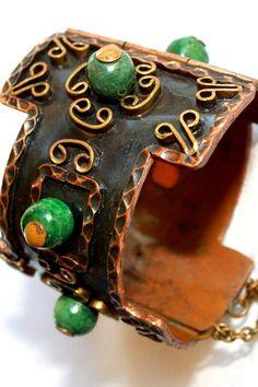 Vintage Mexican Art Deco Cuff Bracelet