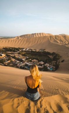 Huacachina is a beautiful oasis city in South America that is surrounded by rolling sand dunes in all directions. Cities In South America, Glacier Lake, Nepal Trekking, Peru Travel, Trotter, Travel Plan, Best Cities, Holiday Destinations, Natural Wonders