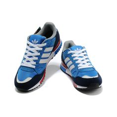 wholesale dealer a8dd3 50e58 MensWomens Adidas Originals ZX 750 Shoes BluebirdRunning White FtwSt  Dark Slate