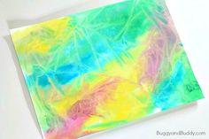 Kids will love this coolprocess art technique using liquid watercolor paint and plastic wrap. Not only is it super fun to do, but the finished project ends up with a neat textured look! Followour Art for Kids Pinterest board!   We love creating interesting papers using fun and uniqueart techniques (like our crumpled art …