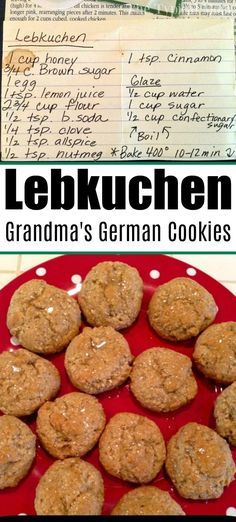 Lebkuchen cookies are traditional German gingerbread cookies from my grandmother. She made them every year. Lebkuchen cookies are traditional German gingerbread cookies from my grandmother. She made them every year. Healthy Gingerbread Cookies, Healthy Christmas Cookies, German Christmas Cookies, German Cookies, Gluten Free Gingerbread, German Gingerbread Recipe, Soft Cookie Recipe, Ginger Bread Cookies Recipe, Cookie Recipes