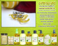 Lemon Twist Product Collection - Freshly zest lemon citrus coated with spun sugar. #OverSoyed #LemonTwist #Citrus #Citrusy #Candles #HomeFragrance #BathandBody #Beauty