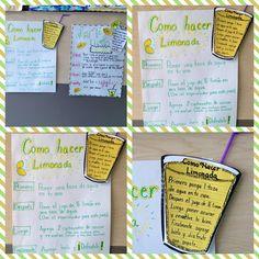 Spanish Anchor Chart:  How to make Lemonade