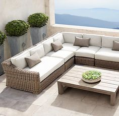 Outdoor Living Room Patio Cushions With Summer Style Guide 133 - targetinspira Plywood Furniture, Patio Furniture Sets, Furniture Design, Outdoor Wicker Furniture, Restoration Hardware Outdoor Furniture, Furniture Ideas, Modern Furniture, Screened In Porch Furniture, Furniture Websites
