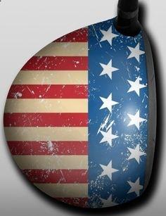Personalized Golf Driver Skin - Designer - American Retro Flag by Big Wigz Skins. Buy it @ ReadyGolf.com