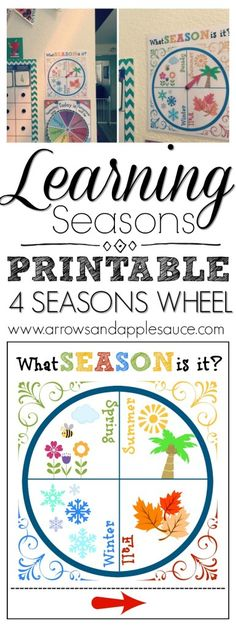 Learning the four seasons of the year is fun and asy with this cute and colorful printable wheel. Great for morning circle time!